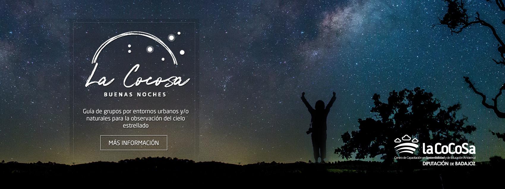 Programa Noche en la dehesa - Guía de grupos por entornos urbanos y/o naturales para la observación del cielo estrellado