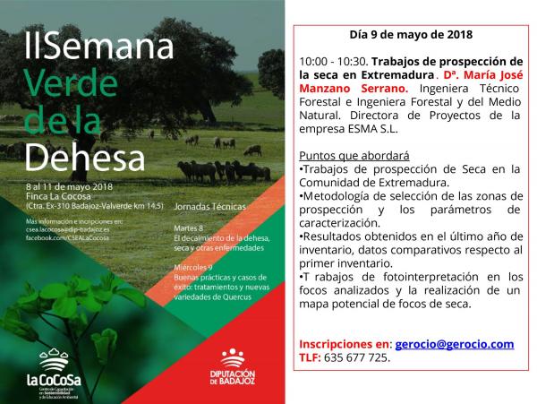 Jornadas Técnicas. II Semana Verde de la Dehesa.