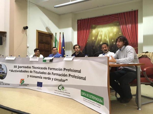 """Diputación de Badajoz presente en las III Jornadas Técnicas """"Actividades de Titulados en Formación Profesional y Economía Verde y Circular"""