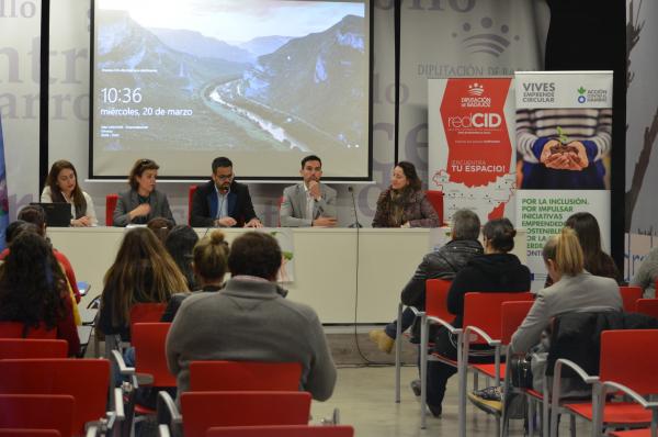 La Diputación de Badajoz ha presentado en el CID de  Olivenza la jornada sobre oportunidades de negocio y emprendimiento circular