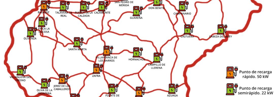 Badajoz será la primera provincia peninsular en contar con una Red Provincial Pública de Puntos de Recarga gracias al Plan MOVEM