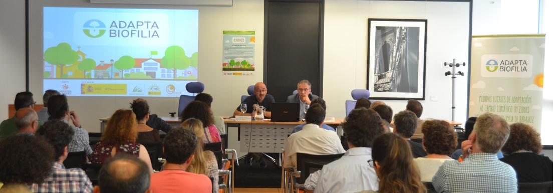 Diputación de Badajoz celebra en Don Benito una jornada sobre infraestructuras verdes municipales y cambio climático