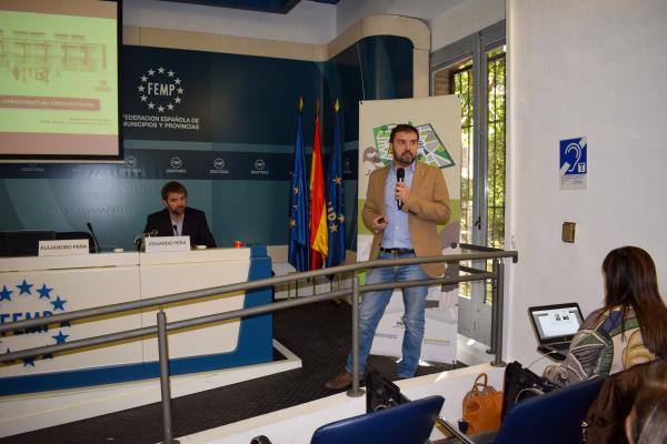 Diputación de Badajoz participa en Madrid en unas jornadas sobre implantación y gestión de infraestructuras verdes municipales