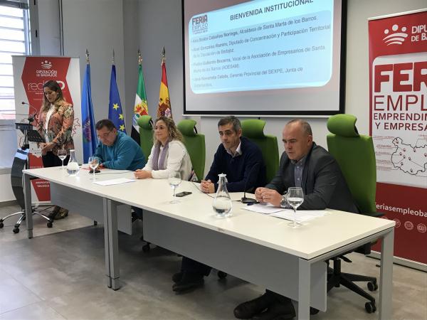 Innovación como motor de empleo y desarrollo, tema central de la Feria de Empleo, Emprendimiento y Empresa celebrada en Santa Marta de los barros