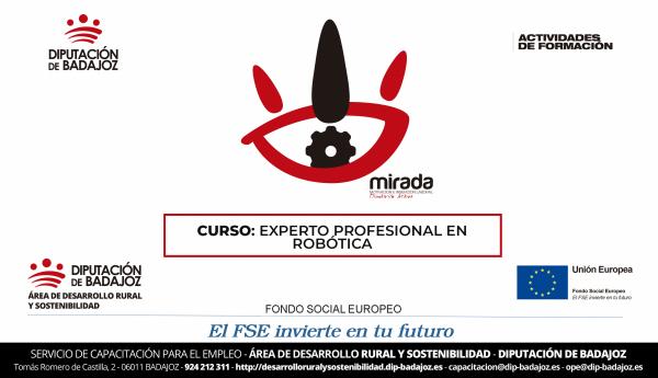 """Alburquerque acogerá un curso de """"Experto profesional en robótica"""", organizado por Diputación de Badajoz"""