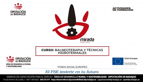 """Diputación de Badajoz organiza un curso formativo de """"Balneoterapia y Técnicas Hidrotermales"""""""