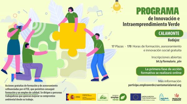 """Calamonte acogerá el """"Programa de Innovación e Intraemprendimiento Verde"""", para personas trabajadoras que quieran mejorar su compromiso ambiental"""