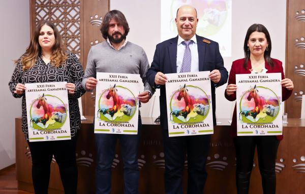 La Diputación de Badajoz participará en la XXII Feria Artesanal Ganadera de La Coronada