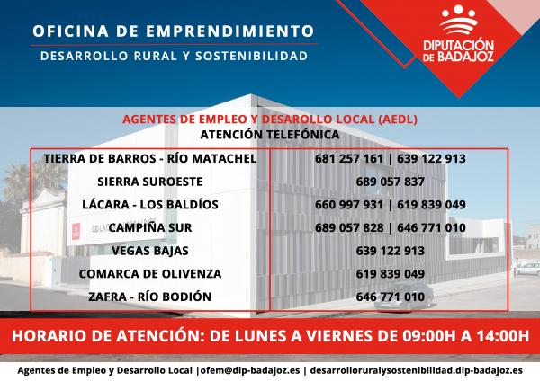 Diputación de Badajoz continúa su apoyo a personas emprendedoras y empresas de manera telemática
