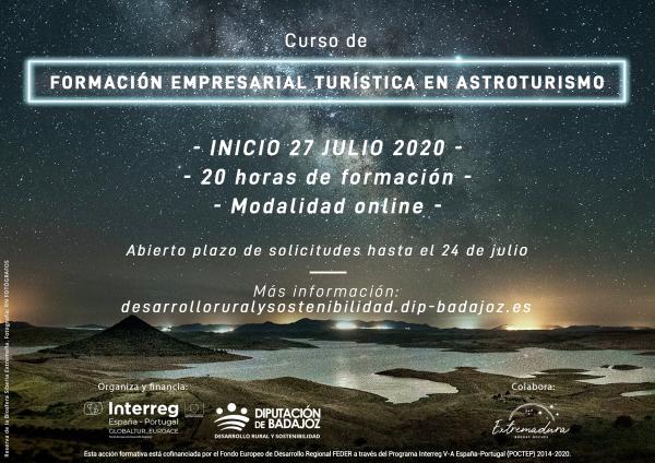 Diputación de Badajoz organiza un curso de formación empresarial turística en astroturismo para promover el turismo de estrellas