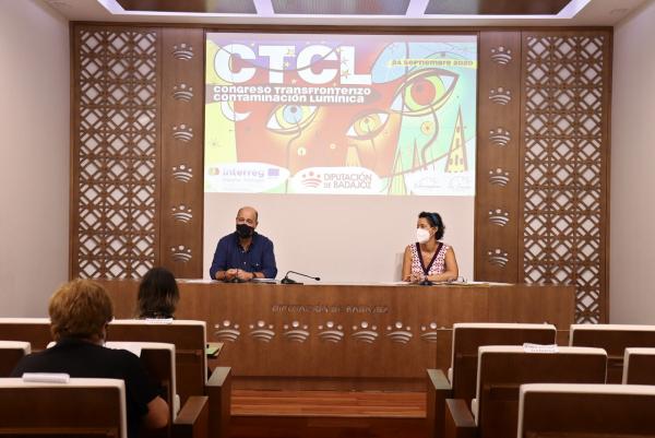 La Diputación de Badajoz presenta el I Congreso Transfronterizo de Contaminación Lumínica