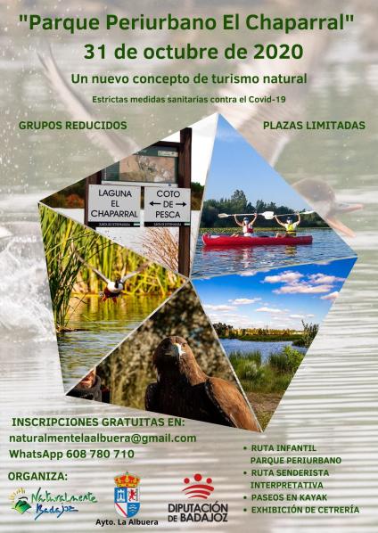 """Una jornada llena de actividades de naturaleza y ocio tendrá lugar en el Parque Periurbano """"El Chaparral"""" de La Albuera"""