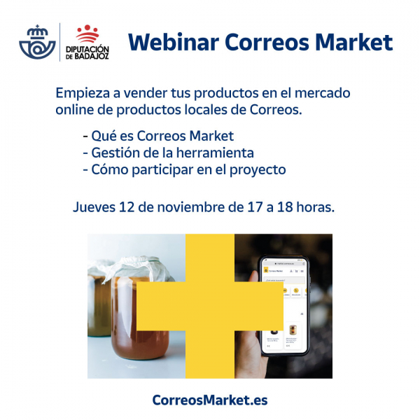 La Diputación de Badajoz organiza un webinar para fomentar el comercio electrónico entre los productores locales de la provincia