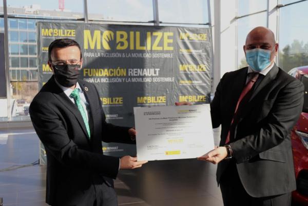 Renault concede al Plan Movem de la Diputación de Badajoz uno de los premios a la mejor práctica en movilidad sostenible