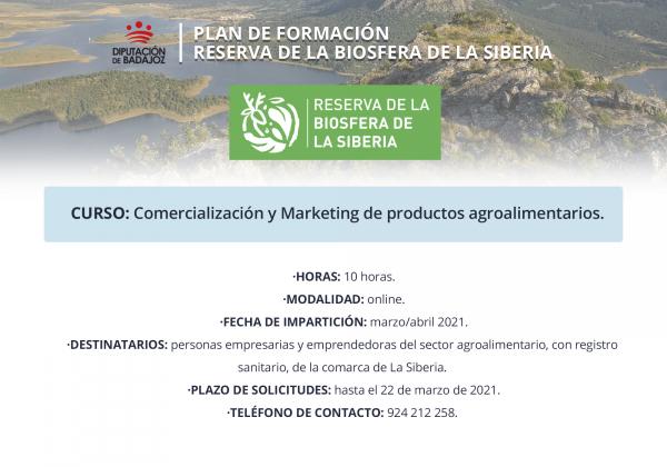Abierto plazo de solicitudes para un curso online de Comercialización y Marketing de Productos Agroalimentarios