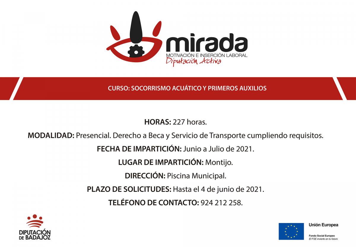 """La Diputación de Badajoz comenzará una acción formativa de """"Socorrismo acuático y primeros auxilios"""" en Montijo"""