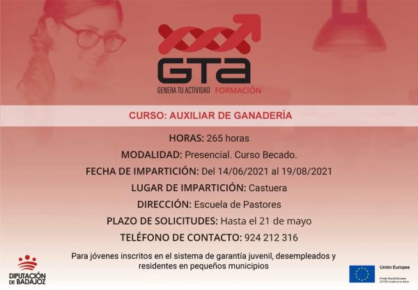 Castuera va a acoger un curso de Auxiliar de ganadería impulsado por la Diputación de Badajoz