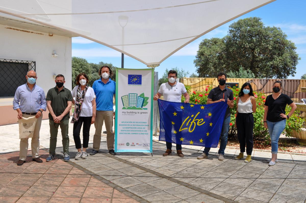 La Diputación de Badajoz ha acogido la tercera reunión de control del proyecto LIFE – My Building is Green