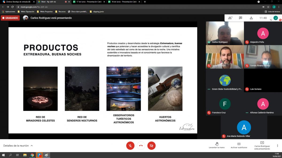 La Diputación de Badajoz trabaja en la elaboración de un catálogo de servicios para la lucha frente a la contaminación lumínica y la promoción de la calidad del cielo nocturno