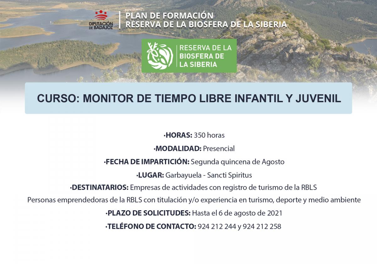 Garbayuela y Sancti-Spiritus acogerán una acción formativa de 'Monitor de tiempo libre infantil y juvenil'